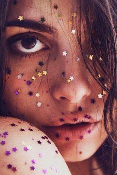 face glitter stars