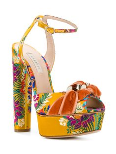 5f7231a2533531 Colorful Casadei Heels New for Spring 2018 Fashion Floral High Heels