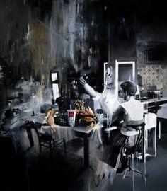 """Saatchi Art Artist Michal Mráz; Painting, """"Weird dinner"""" #art"""