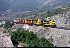 RailPictures.Net Photo: ATSF 8140 Atchison, Topeka & Santa Fe (ATSF) GE C30-7 at Blue Cut, California by Sid Vaught