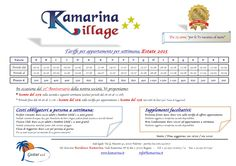 Scegli la tua settimana a Residence Kamarina  info@kamarina.it www.kamarina.it