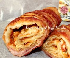 ~Bacon Wrapped Pizza Burrito! | Oh Bite It / this is the craziest web site - love it!!!!