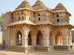 Lotus Mahal  Enclosure XIV, Vijayanagara.  Fusion of Indian and Islamic architecture.