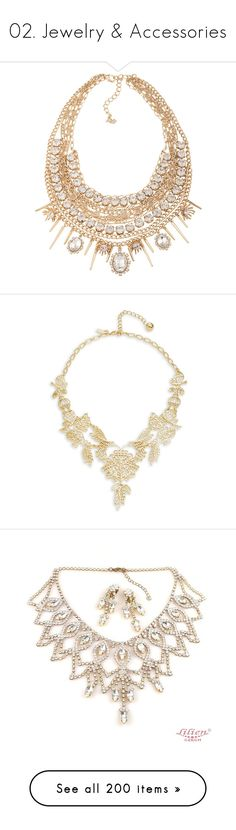 """""""02. Jewelry & Accessories"""" by for-fanfiction-1d5sos ❤ liked on Polyvore featuring jewelry, necklaces, neckless, abs by allen schwartz jewelry, abs by allen schwartz necklace, statement necklace, abs by allen schwartz, bib statement necklaces, gold and gold tone necklace"""