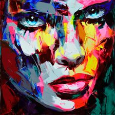 French artist Françoise Nielly used a knife, not a brush, to carve out these gorgeous, expressive paintings with dazzling colours.