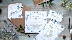 S Velikonocemi přichází konečně jaro! 💙🏵🌿 Toto krásné květinové oznámení patří do naší nové kolekce 2018 a to rovnou s celým setem! Jemný motiv jarních květů doplňuje šedá barva písma, která ladí s podkladovým šedým papírem. 😊 #svatebnioznameni #svatba Place Cards, Place Card Holders, Vintage, Paper Mill, Handmade Envelopes, Invitation Text, Meadow Flowers, Natural Colors, Card Wedding