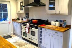 An Innova Malton Painted Cashmere Kitchen