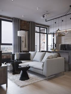 Ideas for house decorations living room loft Living Room Decor Cozy, Living Room Interior, Home Interior Design, Interior Decorating, Living Rooms, Living Area, Appartement Design, Loft Interiors, Loft Style
