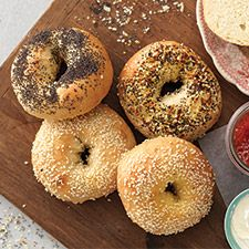 The bagel is one of those things which seems to have attained a certain level of popularity years ago, and has never slipped. If you don't live near a bakery, or if you just like the challenge of making your own, the following recipe should get you started.