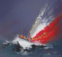 Sail the Florida Keys Nautical Painting, Sailboat Painting, Abstract Watercolor, Abstract Landscape, Abstract Art, Sailboat Art, Sailboats, Sea Art, Nocturne