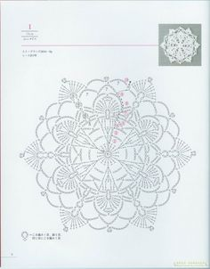 Crochet Patterns and A Great Love of Doilies. Crochet Motif Patterns, Crochet Diagram, Crochet Chart, Thread Crochet, Crochet Circles, Crochet Squares, Crochet Dollies, Crochet Flowers, Crochet Home