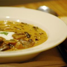 """Hungarian Mushroom Soup I """"Very good, I made it for a soup party and many people asked for the recipe."""""""