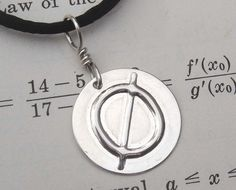 Null Geeky and Nerdy Silver Pendant  by nicholasandfelice on Etsy, $14.00