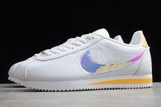 2020 Latest Nike Wmns Classic Cortez White Topaz Gold CI9914-100 Nike Shoes, Sneakers Nike, Nike Classic Cortez, White Topaz, Kicks, Boots, Clothing, Gold, Leather