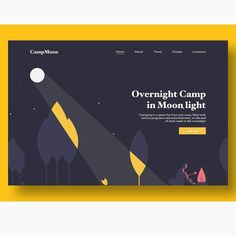 Nice Camping Web Design by @vilayatt . Follow us - @dailywebinspire for daily #webdesign inspiration . . . . . #uxdesign #websitedesign… Web Design Quotes, Web Design Tips, Web Design Tutorials, Ui Design, Wall Design, Branding Design, Graphic Design Resume, Ecommerce Web Design, Graphic Design Trends