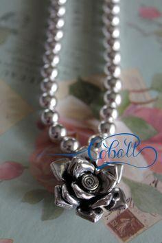 Cobalt Rose pendant necklace