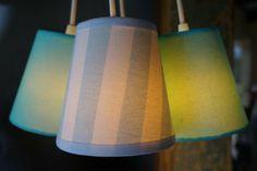 Luminária Pendente Azul e Branca