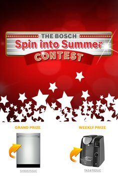I just entered The Bosch Spin into Summer Contest! *Daily Entry* Ends Grand Prix, Canadian Contests, Visa Gift Card, Free Things, Bosch, Projects To Try, Kitchen Appliances, Rimmel, House Styles