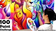 In this new painting art challenge, Mei Yu creates one of her most amazing inspirational artworks! artist makes this big, beautiful painting with Art Challenge, Acrylic Colors, Paint Colors, Inspirational Artwork, Mural Painting, Medium Art, Beautiful Paintings, Curiosity, Art Tutorials
