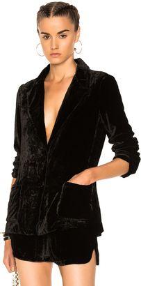Shop Now - >  https://api.shopstyle.com/action/apiVisitRetailer?id=647406971&pid=uid6996-25233114-59 Raquel Allegra Velvet Classic Blazer Jacket  ...