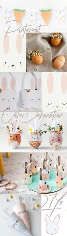 Die besten Pinterest Oster-Dekoideen, schnell gemachte Oster-DIYs mit pastellfarbigen Oster Hüpfern im Color Of The Year Trend | Pinspiration