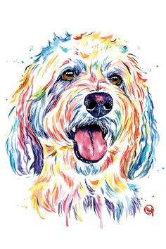 Goldendoodle, Golden Doodle - Dog Portrait Watercolor Painting Couch Throw Pillow by Whitehouse Art - Cover x with pillow insert - Indoor Pillow Canvas Artwork, Canvas Art Prints, Dog Artwork, Painting Canvas, Framed Canvas, Goldendoodle Art, Goldendoodles, Watercolor Portraits, Watercolor Paintings