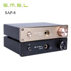 62.99$  Watch here - http://aliqzf.shopchina.info/go.php?t=32358427720 - 2016 New Turntable Headphone Amplifier SMSL Sap-8 CNC CNC Desktop Hifi Home Stereo Class-a Amplifier Amplificador Auriculares 62.99$ #magazineonline