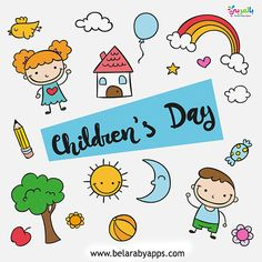 Happy Children Day Easy Drawing For Kids ⋆ BelarabyApps Easy Doodles Drawings, Easy Drawings For Kids, Simple Doodles, Drawing For Kids, Cool Coloring Pages, Coloring Pages For Kids, Coloring Books, Happy Children's Day, Happy Kids