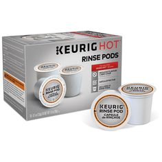 The Keurig& Rinse Pods brew just like a K-Cup& Pod in your coffee maker. It reduces flavor carry-over between different beverage types and is safe and effective. The Rinse Pods brew in both Classic and Plus Series Brewers. Pod Coffee Makers, Coffee Pods, Coffee Coffee, Coffee Break, K Cups, Capsule, Coffee Machine, Espresso Machine, Coffee Recipes