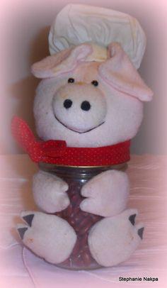 A craft mason pig jar.