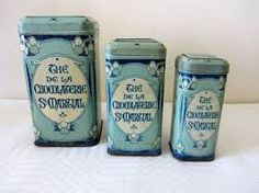antique french storage tins - Google Search
