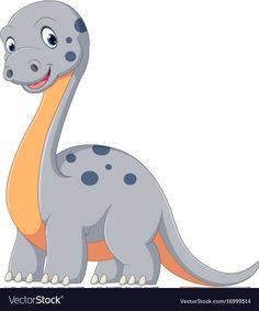 Cute dinosaur diplodocus cartoon vector image on VectorStock Dinosaur Images, Cute Dinosaur, Dinosaur Party, Dinosaur Birthday, Duck Cartoon, Cartoon Dinosaur, Free Flower Clipart, Dragon Birthday Parties, Easy Coloring Pages