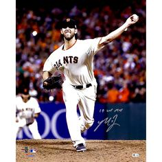 "Madison Bumgarner San Francisco Giants Fanatics Authentic Autographed 16"" x 20"" 2014 World Series Photograph with 14 WS MVP Inscription - $319.99"