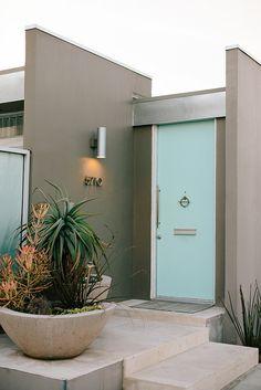 Mid century modern house entryway