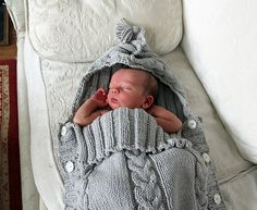 Baby Sleep Sack Knit Pattern (includes link to translated pattern)