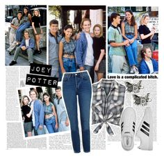 Joey Potter - Outfit Inspiration - Season 1 by vilena-ferreira on Polyvore featuring moda, Topshop, adidas, Carole and Oris
