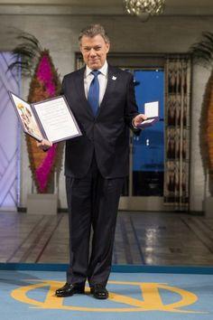 Juan Manuel Santos recibió el Nobel de la Paz en Noruega
