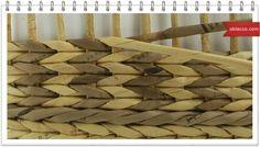 Как выдержать ровные углы при плетении из газетных трубочек Моменты плетения Еще один хороший совет