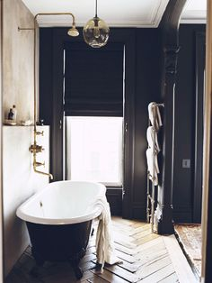 Always wanted to pull off black walls in a house. This works. Fantastic floor too.