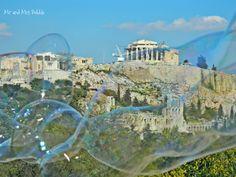 Bubbles in Athens, Bubble Performing, Acropolis