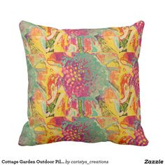 Cottage Garden Outdoor Pillow