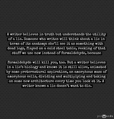 The Difference Between A Writer And Someone Who Writes in the words of Eliot Rose. (Part Four)