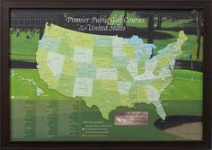 The Personalized European Travel Map Traveler Maps Pinterest - Us golf course map