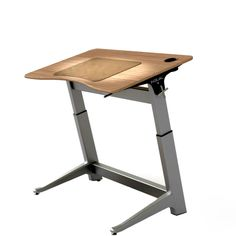 The Focal Locus Standing Desk is a revolutionary ergonomic desk design.  In addition to raising and lowering in height, the Locus Desk can also be angled up to 15�, converting easily from a standard desk to a drafting table.  The Focal Locus Desk can be used by people of a height between 4' 11'' and 6' 8'' and for best results is paired with the Focal Locus Seat.  The Focal Locus Standing Desk is globally sourced and assembled in Rhode Island.