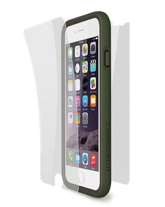 RhinoShield Crash Guard:Impact Bumper Bundle Impact Protector for iPhone 6 Plus (Includes bumper, front and back screen protector)