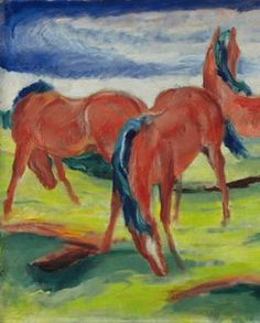 Franz Marc's Weidende Pferde III