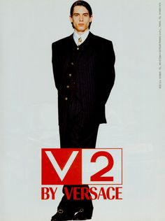 V2 by GIANNI VERSACE Fall Winter 1994 featuring ETHAN BROWNE
