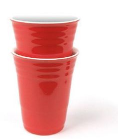 Red Porcelain Party Cup, $12 (jill)