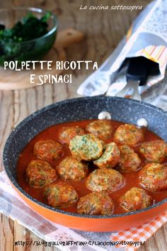 Ricotta spinach balls polpette ricotta e spinaci Healthy Cooking, Healthy Eating, Cooking Recipes, Italian Dishes, Italian Recipes, Vegetarian Recipes, Healthy Recipes, Weird Food, Ricotta
