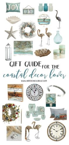 Gift Guide for the Coastal Decor Lover LOVE all of these! Great gift ideas for the coastal decor lover LOVE all of these! Great gift ideas for the coastal decor lover Beach Cottage Style, Coastal Cottage, Coastal Homes, Coastal Style, Beach House Decor, Coastal Decor, Coastal Farmhouse, Coastal Furniture, Beach Homes
